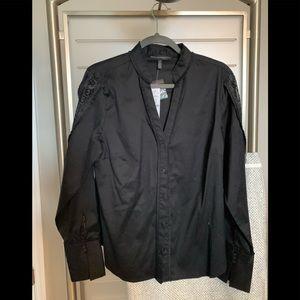 Whitehouse Blackmarket Black Button Down Shirt